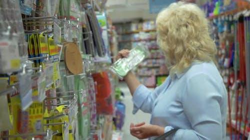 Senior Woman in the Hypermarket