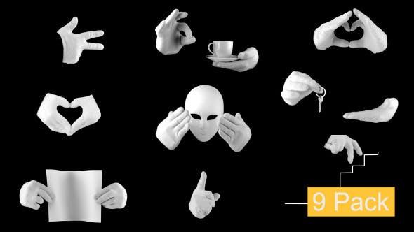 Cover Image for 9 Pack White Gloves