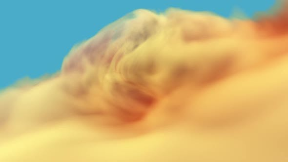 Thumbnail for Inspirational Trippy Abstract Hypnotizing Twirl Of Orange Clouds With Copy Space