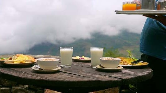 Cover Image for Organic Breakfast Being Served at Himalayan View