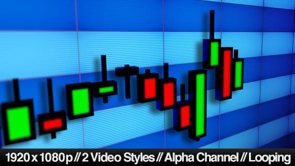Thumbnail for Business Stock Market Candlesticks Bar Chart