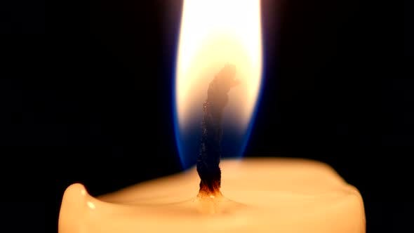 Thumbnail for Close-up of a Candle Flame on Black