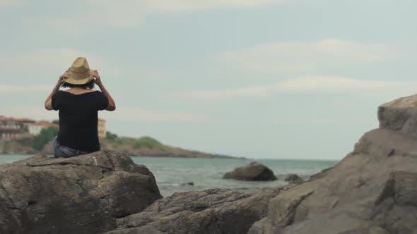 Girl Near the Sea. Sozopol. Bulgaria