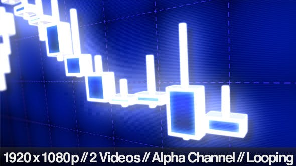 Thumbnail for 3D Stock Market Candlestick Trading Chart