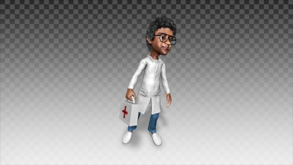 Cartoon Doctor   Waiting Patients V1