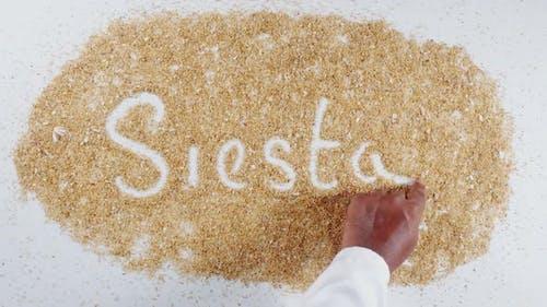 Hand Writes On Sand Siesta