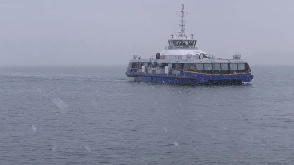 Thumbnail for Ferry Boat In Winter Snow