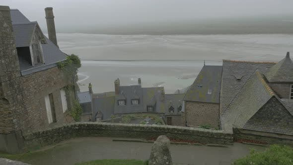 Thumbnail for Mont St Michel view from higher levels    tourist attraction in northern France  4k 2160p UHD footag