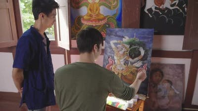 Teaching Painting On Easel