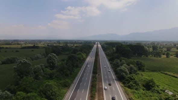 Thumbnail for Aerial Drone Hyperlapse Traffic
