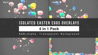 Isolated Easter Eggs Overlays Pack
