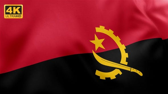 Thumbnail for Flag of Angola - 4K