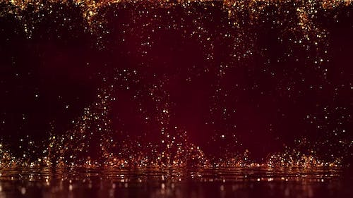 Gold Particles Background 02 4K