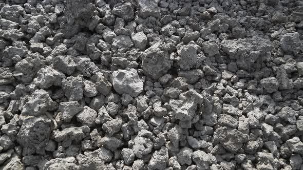 Fragmented Porous Basalt Stones