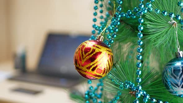 Thumbnail for Christmas Tree with Multicolored Decorated Balls