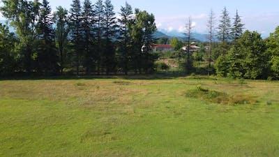 Rugby Stadium In The Summer Village