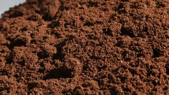 Thumbnail for Close-up of ground Arabica coffee 4K slow pan video
