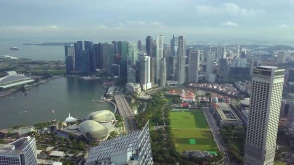 Thumbnail for Singaporean Business District Aerial View in Singapore