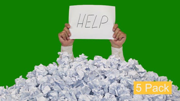 Messages Over A Bunch Of Crumpled Paper (5-Pack)