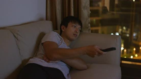 Thumbnail for Man Watch TV at Night