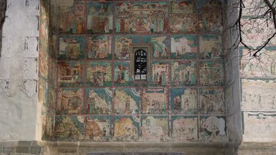 Mural painting on the Arbore Churchs back wall