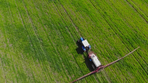 Thumbnail for Following Tractor Sprayer in the Field