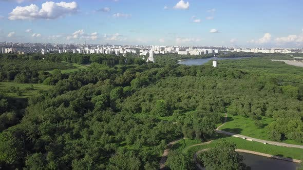 Thumbnail for An Aerial View of a Large Green Park Area