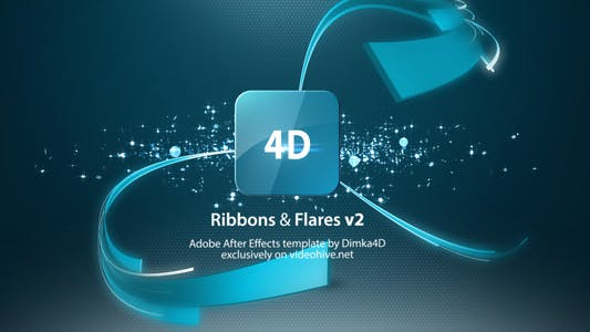 Ribbons & Flares Logo Reveal v2