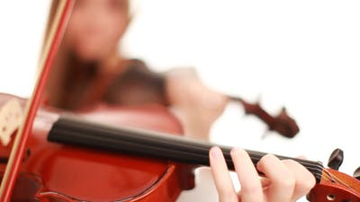 Movement Of The Bow On The Strings Violin