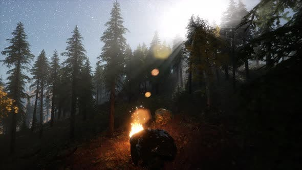 Thumbnail for Campfire at Mountain