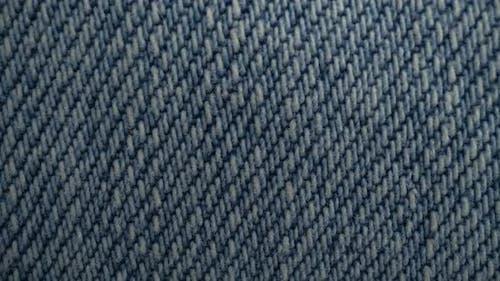 Macro Blue Denim Fabric Background