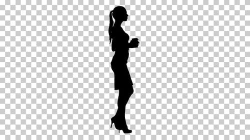 Silhouette businesswoman, Alpha Channel
