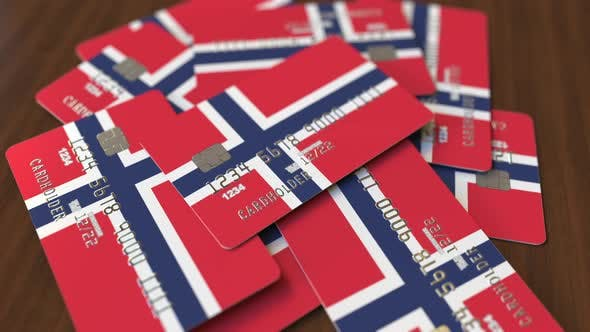 Thumbnail for Pile of Credit Cards with Flag of Norway