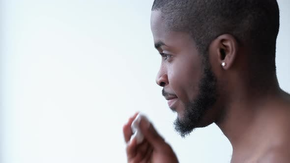 Man Skincare Face Cleansing Treatment