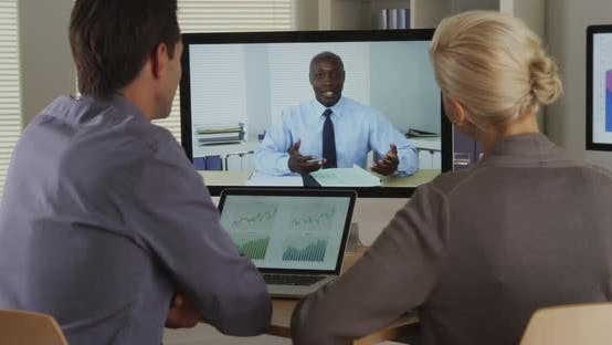 Thumbnail for African business manager remotely talking to his employees