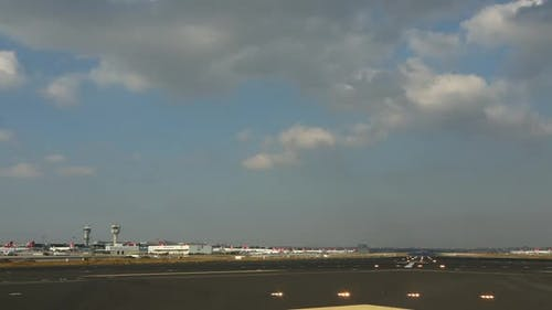 Airplanes Is Landing On The Airport