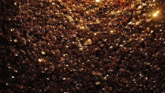 Thumbnail for Abstract Sparkling Background with Golden Sequins Twinkling Like Stars