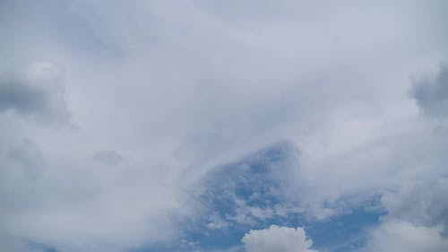 Clouds Move Smoothly in the Blue Sky. Timelapse