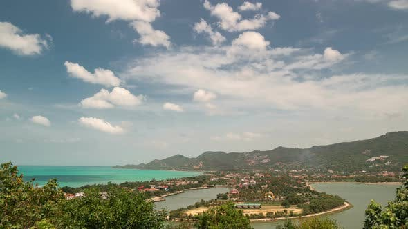Thumbnail for Aerial view of Chaweng beach on tropical Koh Samui, Thailand