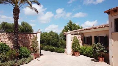 Courtyard of luxury house
