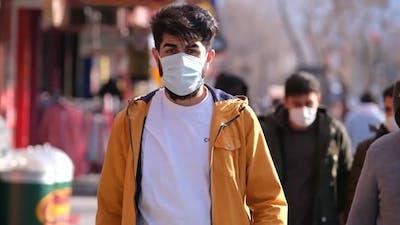 Masked Man Walking