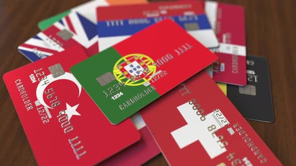 Thumbnail for Emphasized Bank Card with Flag of Portugal