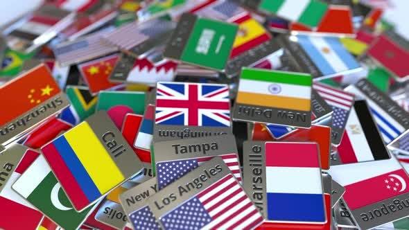 Thumbnail for Souvenir Magnet with Riyadh Text and National Flag