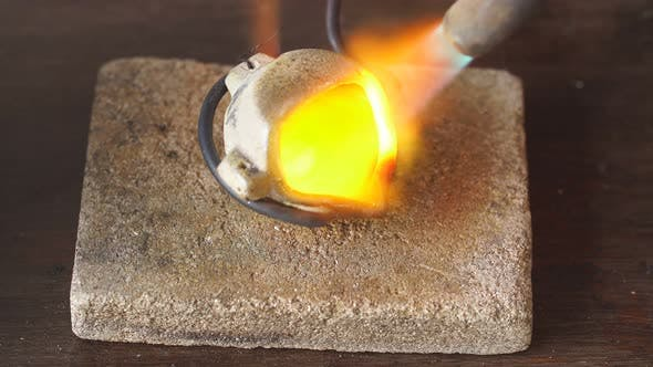 Man Preparing Metal for a New Jewellery. Successful Jewelry Soldering.