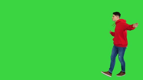 Thumbnail for Trendy Dancer Man Walking and Dancing on a Green Screen, Chroma Key