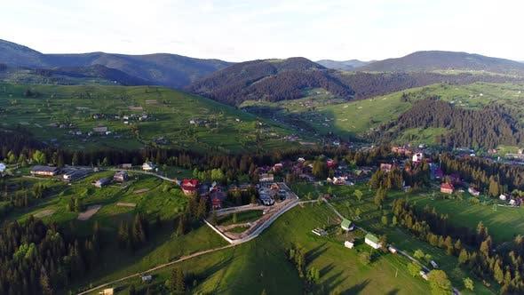 Thumbnail for Mountain Village Landscape in Carpatian