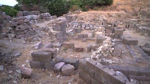 Alte historische Steinwerke der antiken Zivilisationsstadt vor Christus