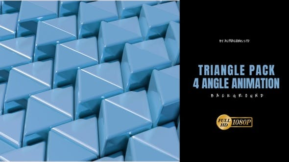Thumbnail for Triangle 3D Blue Color