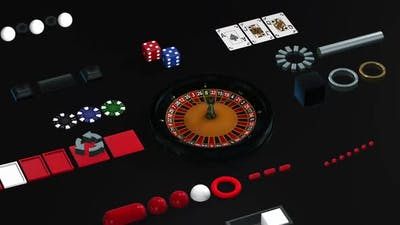 Isometric concept casino roulette on black background