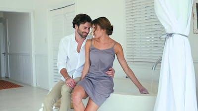 Couple in bathroom